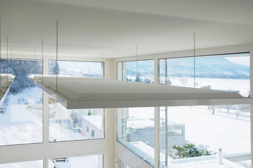 deckensegel akustikelement schallschutz raumakustik schallabsorber serie quietline. Black Bedroom Furniture Sets. Home Design Ideas